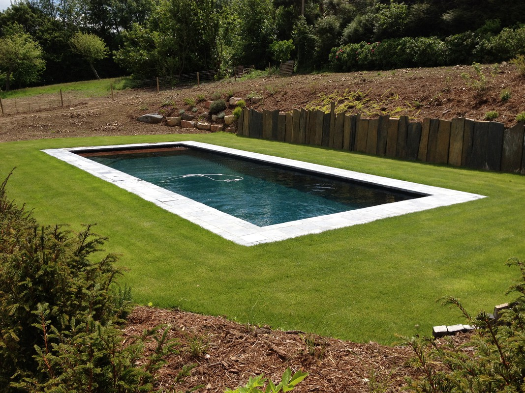 Photo de piscines r alisations dans le calvados for Piscine liner noir
