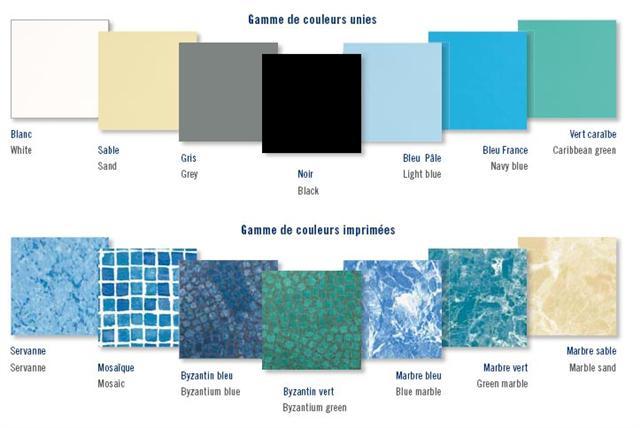 Liner de piscine couleur d 39 eau 14 delalande piscines for Piscine avec liner