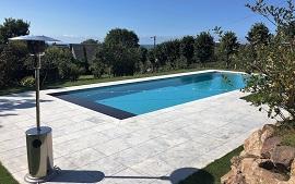 Photo de piscines r alisations dans le calvados for Nettoyage dalle piscine